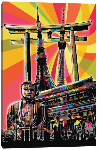 Tokyo Psychedelic Pop Canvas Art Print