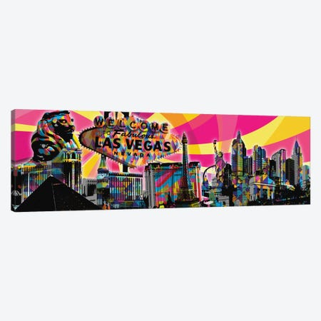 Las Vegas Psychedelic Pop Canvas Print #ICA681} by 5by5collective Canvas Wall Art