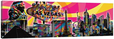 Las Vegas Psychedelic Pop Canvas Art Print