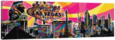 Las Vegas Psychedelic Pop Canvas Art Print