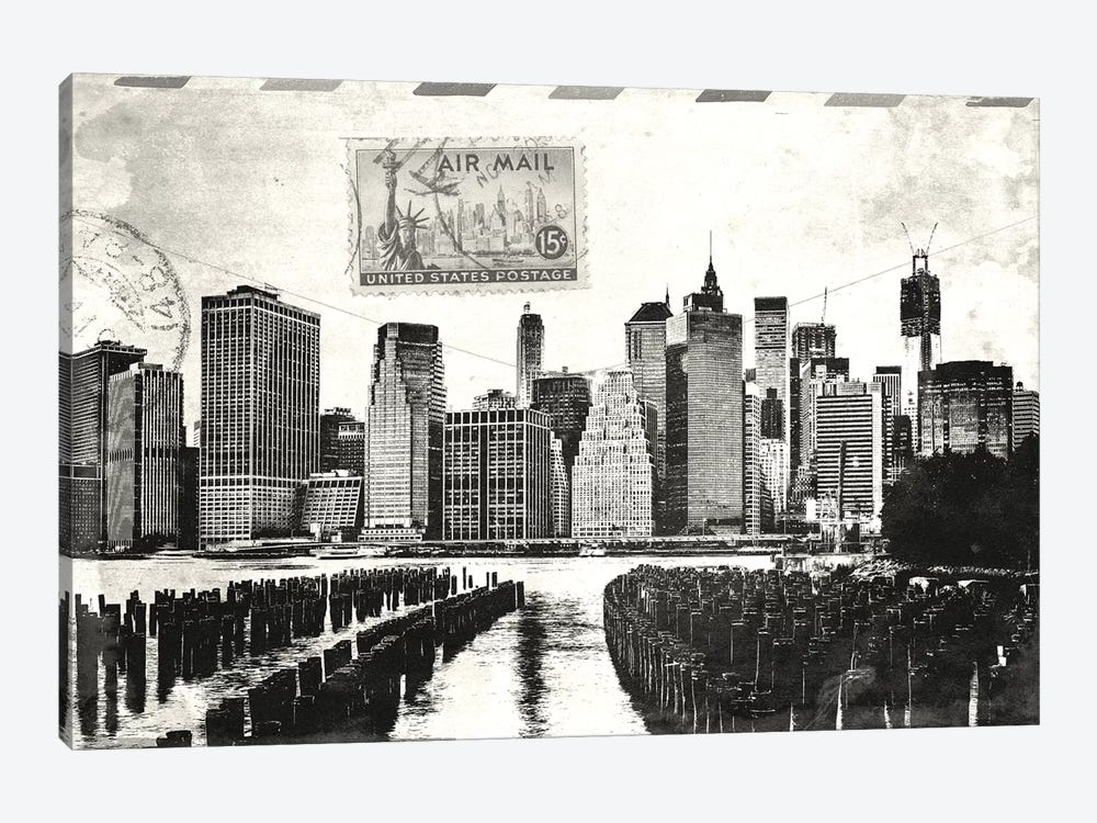 Letter from Manhattan by Unknown Artist 1-piece Canvas Print