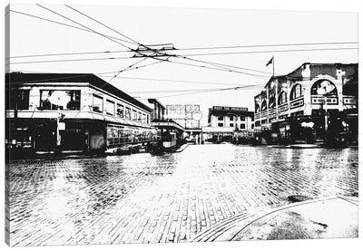 Seattle Black & White Skyline Canvas Print #ICA685