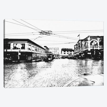Seattle Black & White Skyline Canvas Print #ICA685} by Unknown Artist Canvas Print