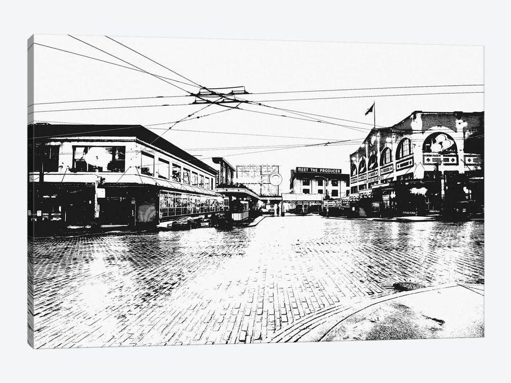 Seattle Black & White Skyline by Unknown Artist 1-piece Art Print