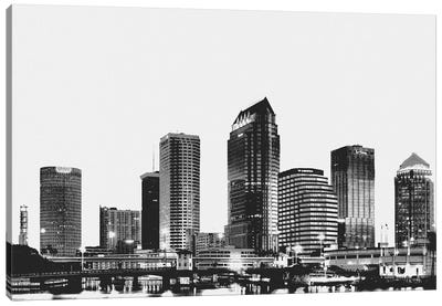 Tampa Black & White Skyline Canvas Art Print