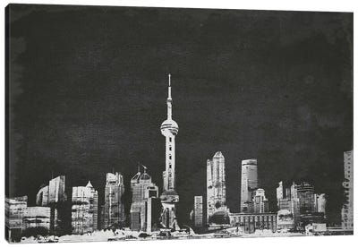 Vintage Shanghai Skyline Canvas Art Print