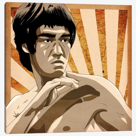 Bruce, Rising Sun Canvas Print #ICA708} by 5by5collective Canvas Art Print
