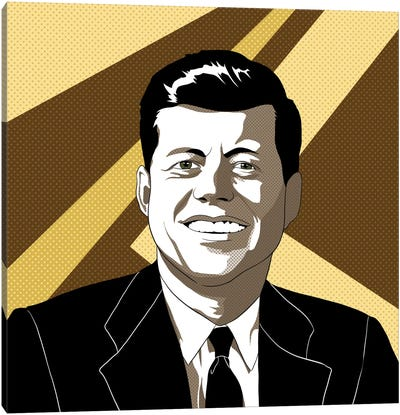 JFK in Shades of Bronze Canvas Art Print