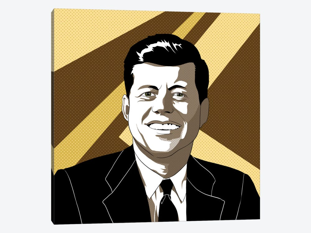 JFK in Shades of Bronze by 5by5collective 1-piece Canvas Print