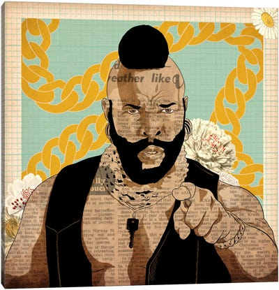 Mr. T with Chains Canvas Art Print