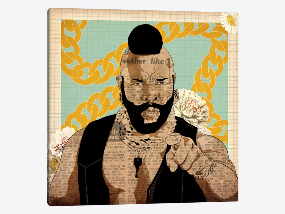 Mr. T with Chains 1-piece Canvas Wall Art