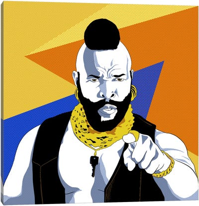 No Jibba Jabba Mr. T Canvas Art Print