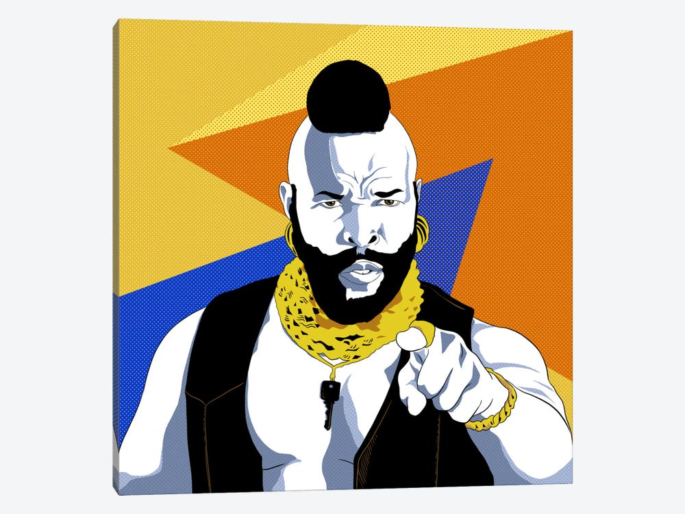 No Jibba Jabba Mr. T by 5by5collective 1-piece Canvas Art Print