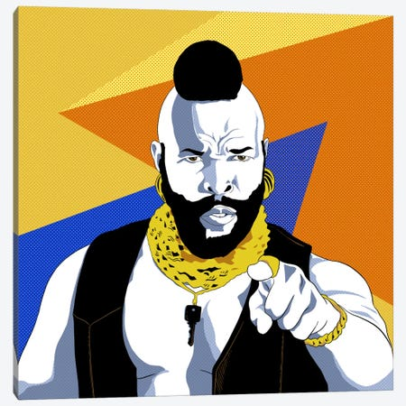 No Jibba Jabba Mr. T 3-Piece Canvas #ICA735} by 5by5collective Canvas Art Print