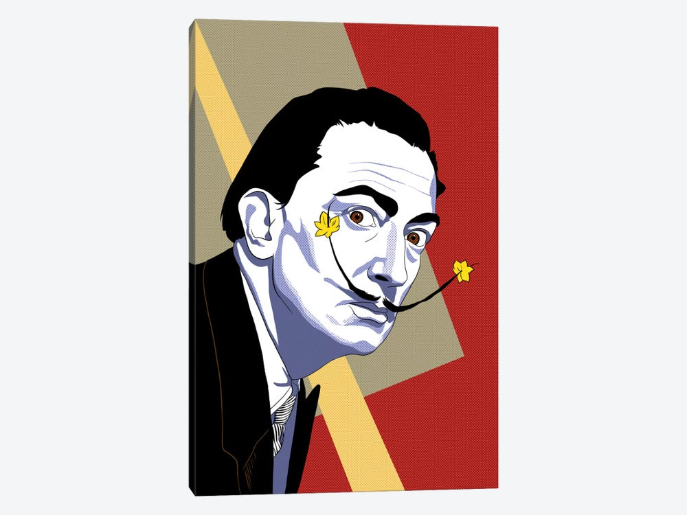 Strike a Pose Dali by 5by5collective 1-piece Canvas Art Print