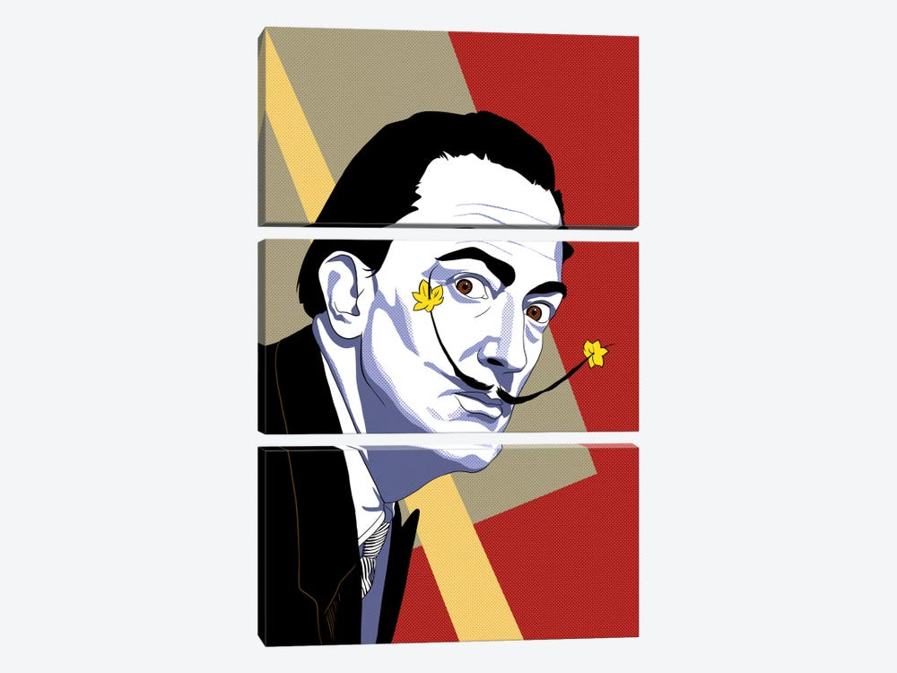 Strike a Pose Dali by 5by5collective 3-piece Art Print