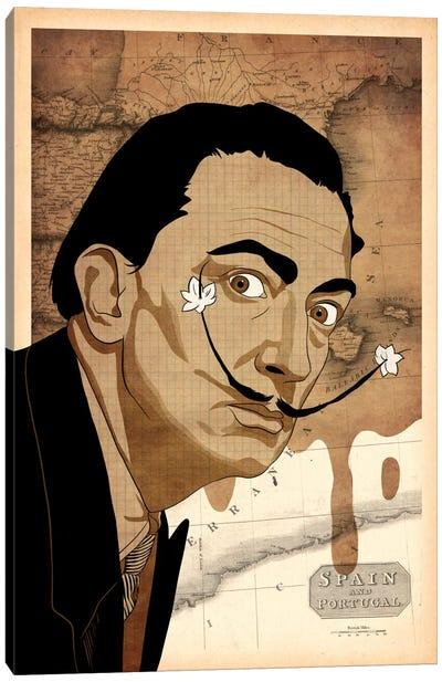 Flower Mustache For Salvador #2 Canvas Art Print
