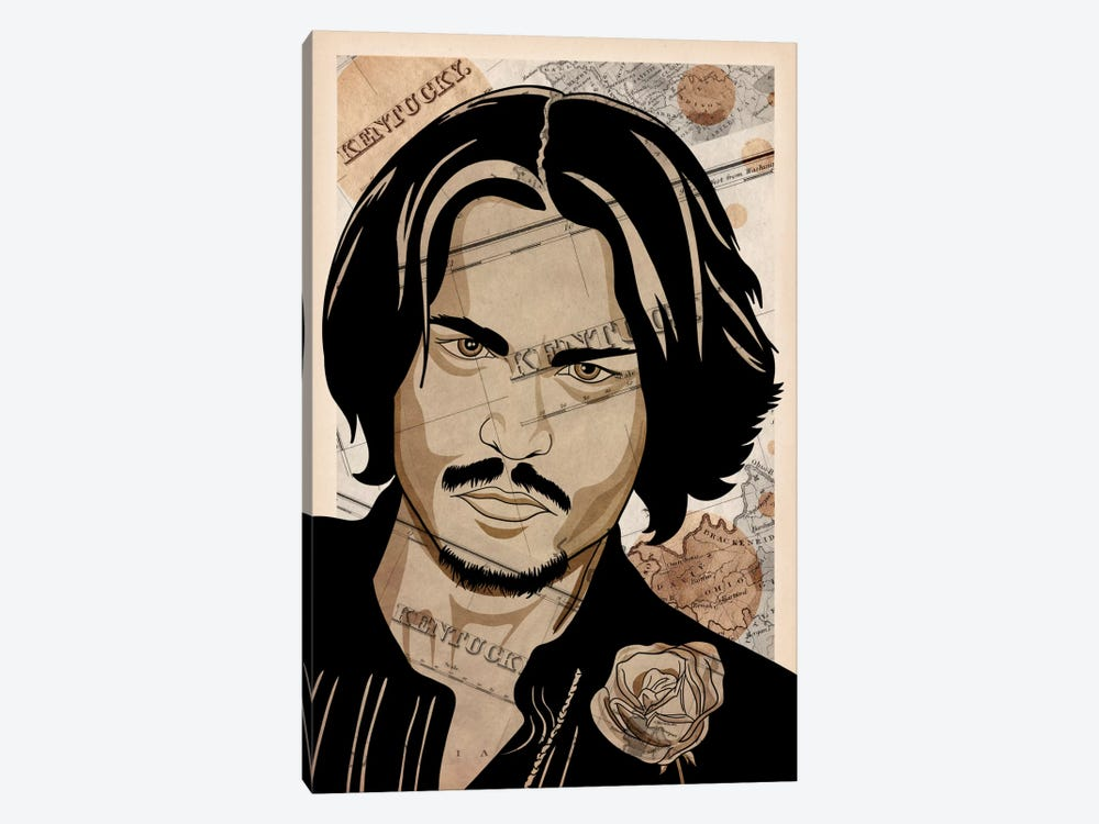 Johnny Back Home by 5by5collective 1-piece Canvas Art Print