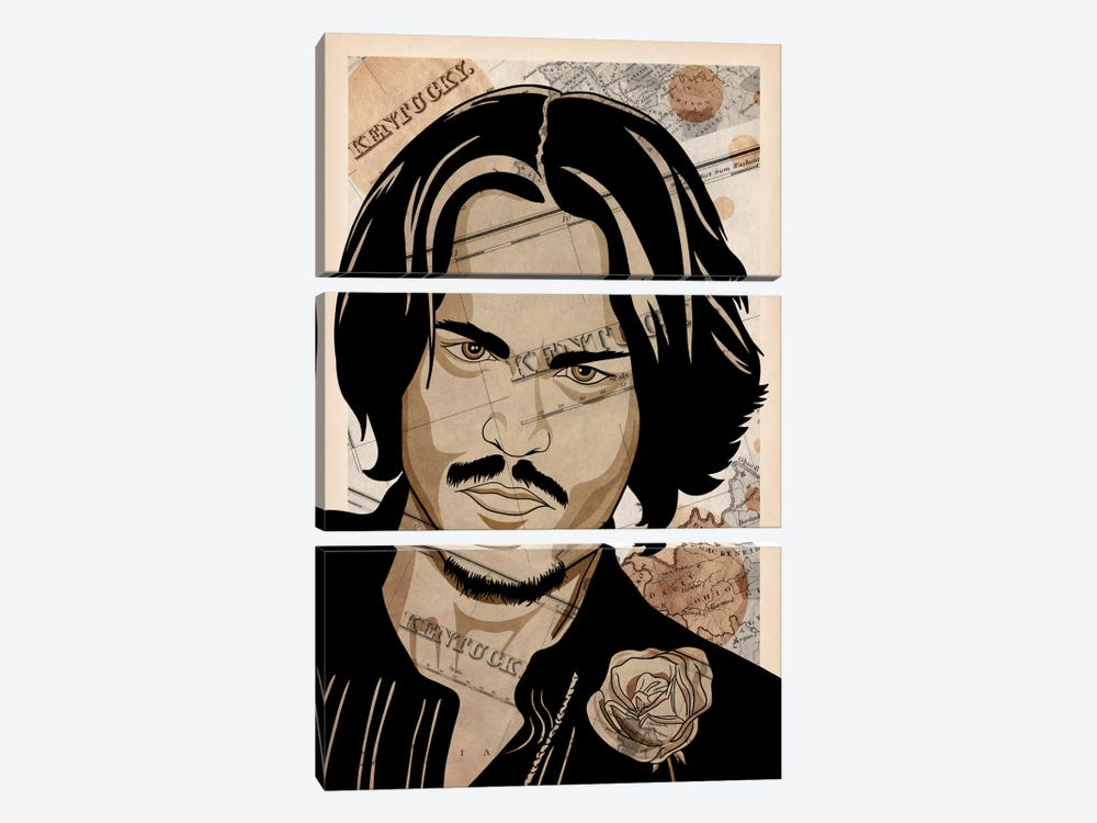Johnny Back Home by 5by5collective 3-piece Canvas Print