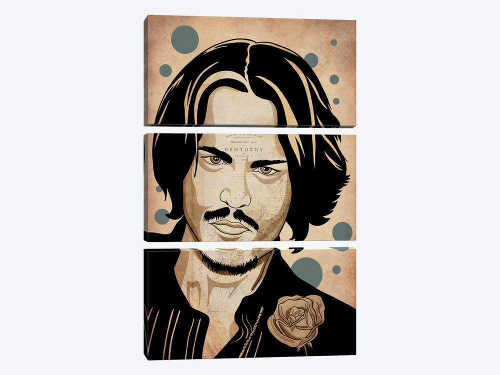 Johnny Pop by 5by5collective 3-piece Canvas Artwork