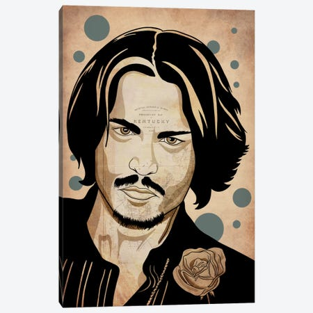 Johnny Pop Canvas Print #ICA756} by 5by5collective Art Print