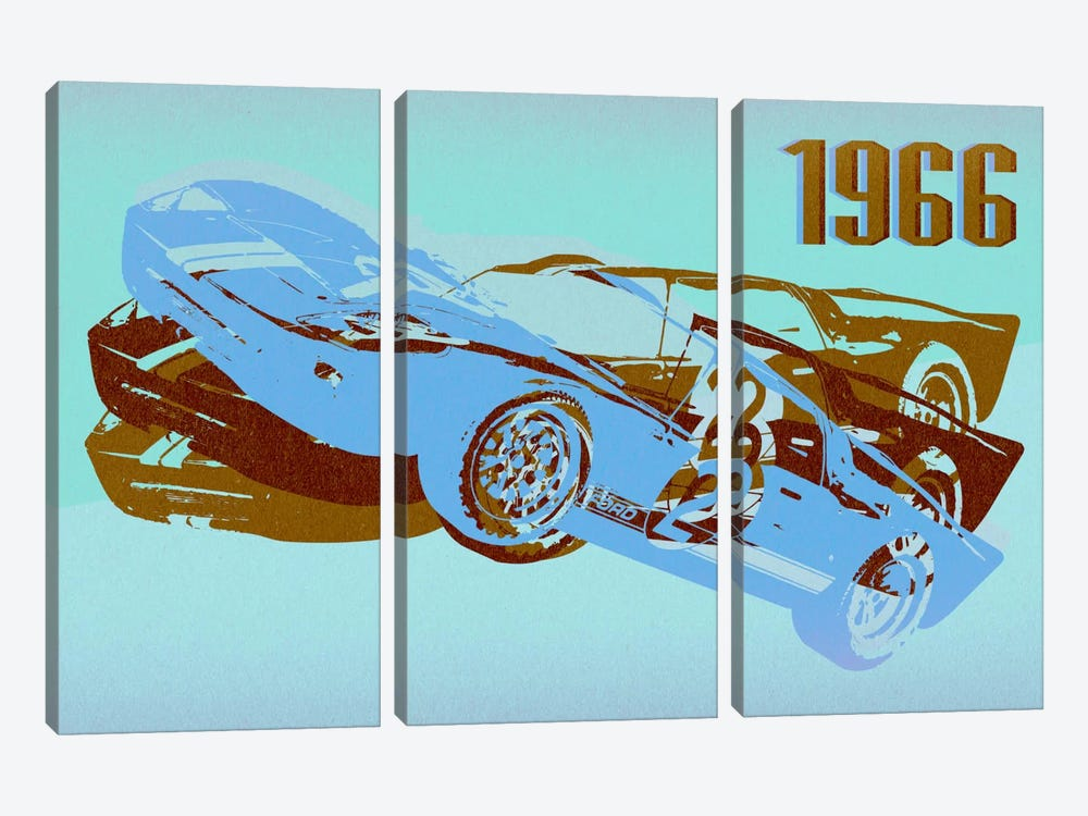 GT 3 by 5by5collective 3-piece Canvas Artwork