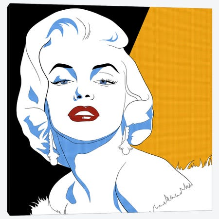Marilyn's Gaze Canvas Print #ICA760} by 5by5collective Canvas Art Print