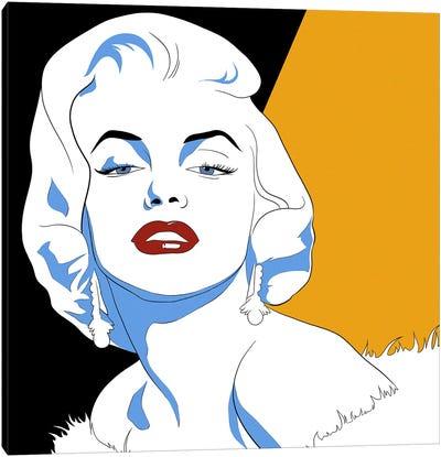 Marilyn's Gaze Canvas Art Print