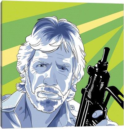Chuck, Action Hero Canvas Art Print