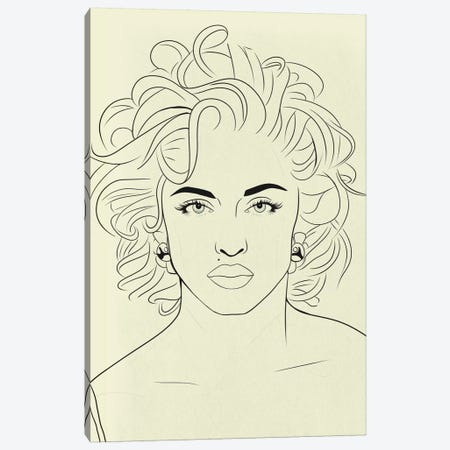 Madonna Minimalist Line Art Canvas Print #ICA778} by 5by5collective Canvas Art