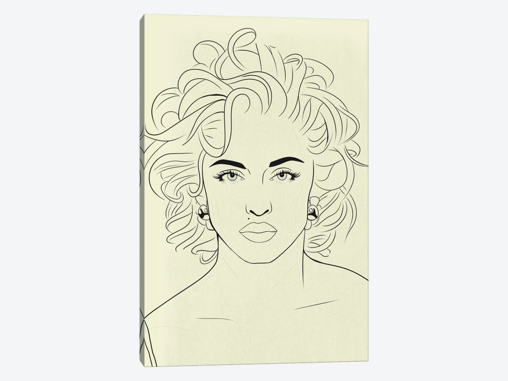 Madonna Minimalist Line Art 1-piece Canvas Artwork