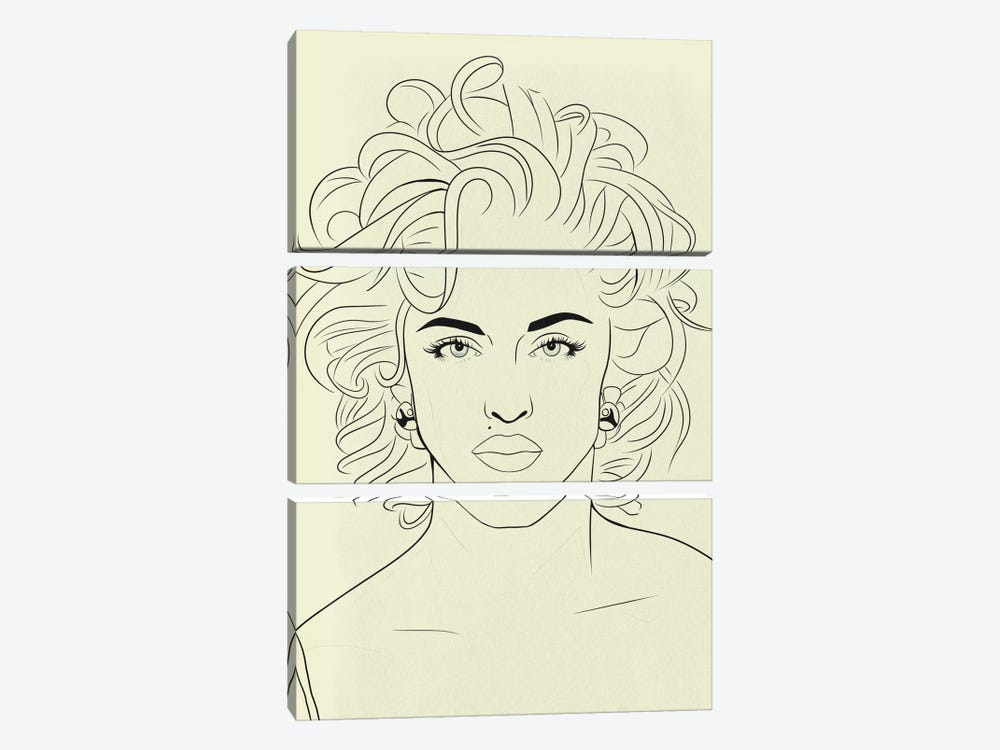 Madonna Minimalist Line Art by 5by5collective 3-piece Canvas Art