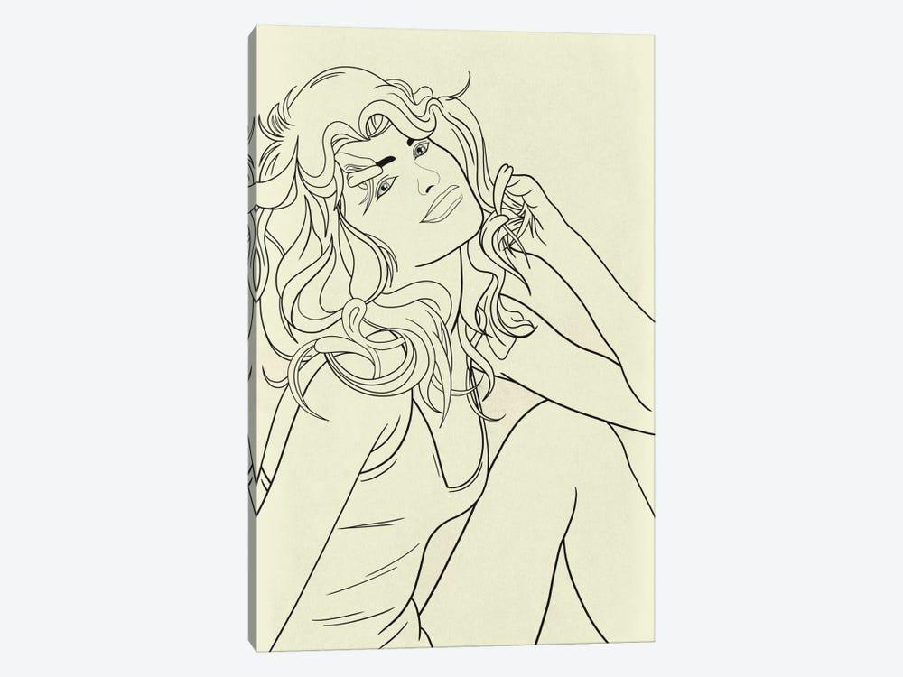 Farrah Fawcett Minimalist Line Art by 5by5collective 1-piece Canvas Art Print