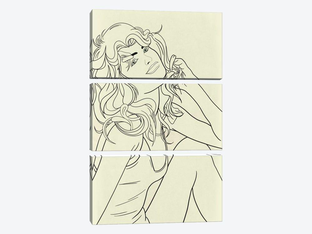 Farrah Fawcett Minimalist Line Art by 5by5collective 3-piece Art Print