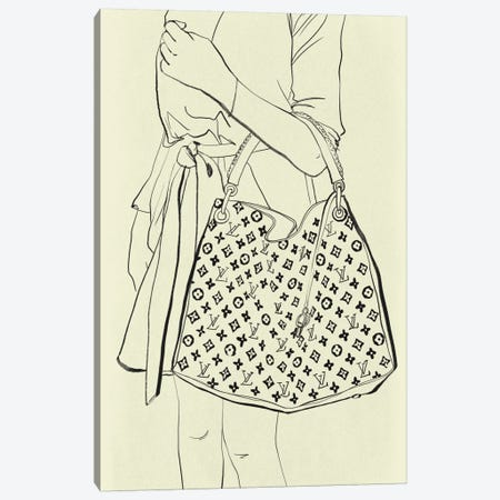 Bags Are My Weakness Minimalist Line Art Canvas Print #ICA782} by 5by5collective Canvas Print