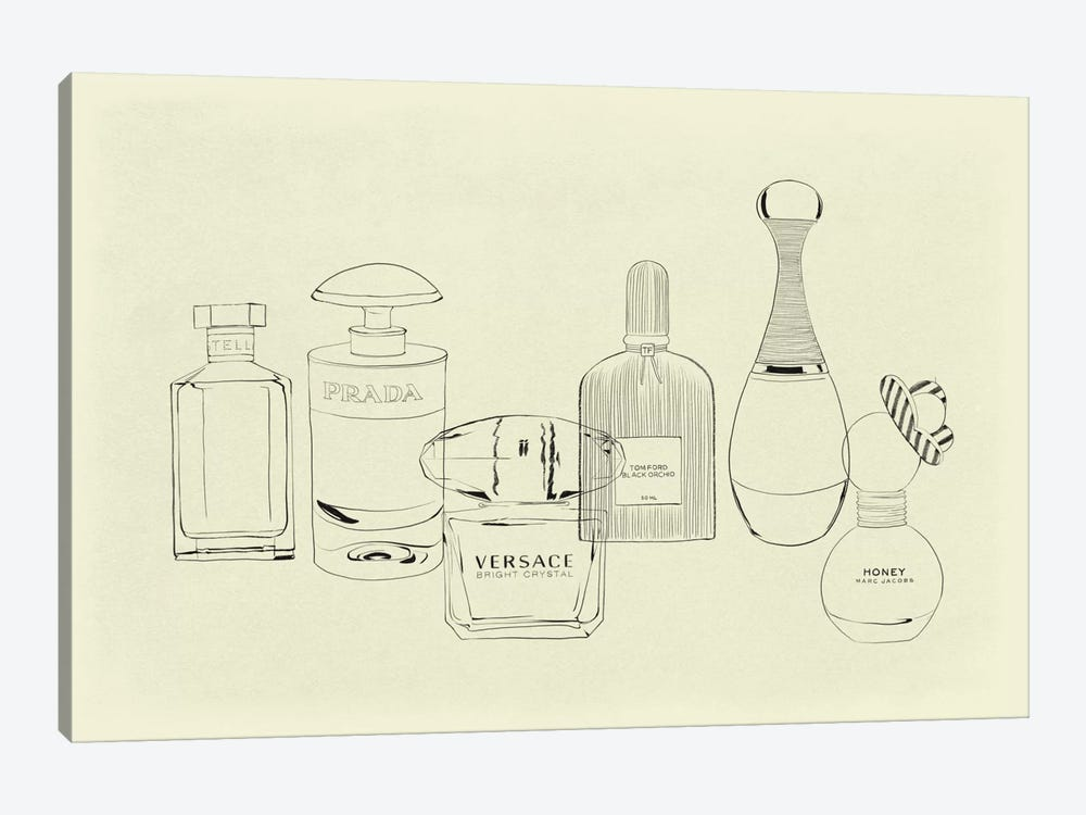 Aquarelle Minimalist Line Art by 5by5collective 1-piece Canvas Art
