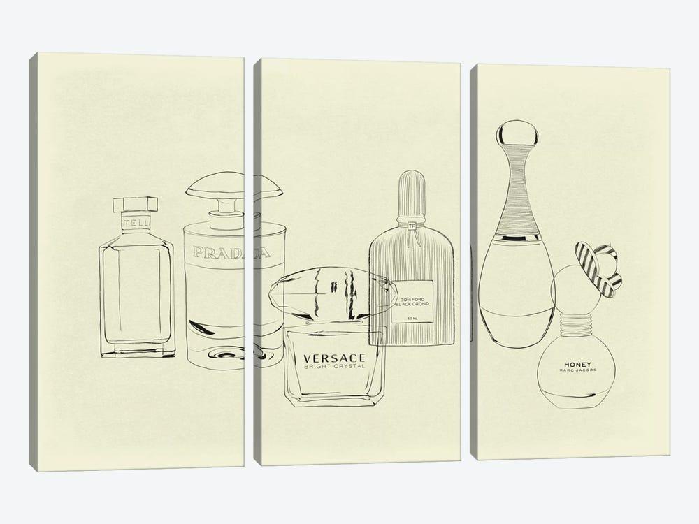 Aquarelle Minimalist Line Art by 5by5collective 3-piece Canvas Artwork