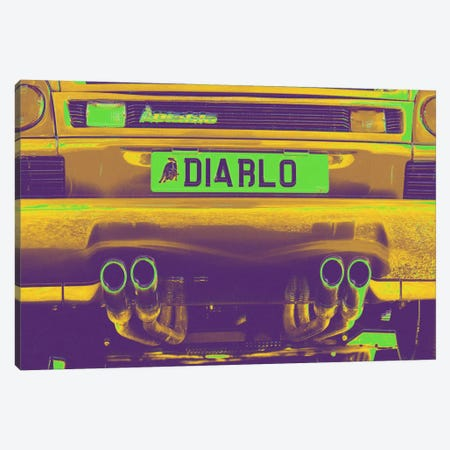 Neon Diablo Bull Canvas Print #ICA789} by 5by5collective Canvas Art Print