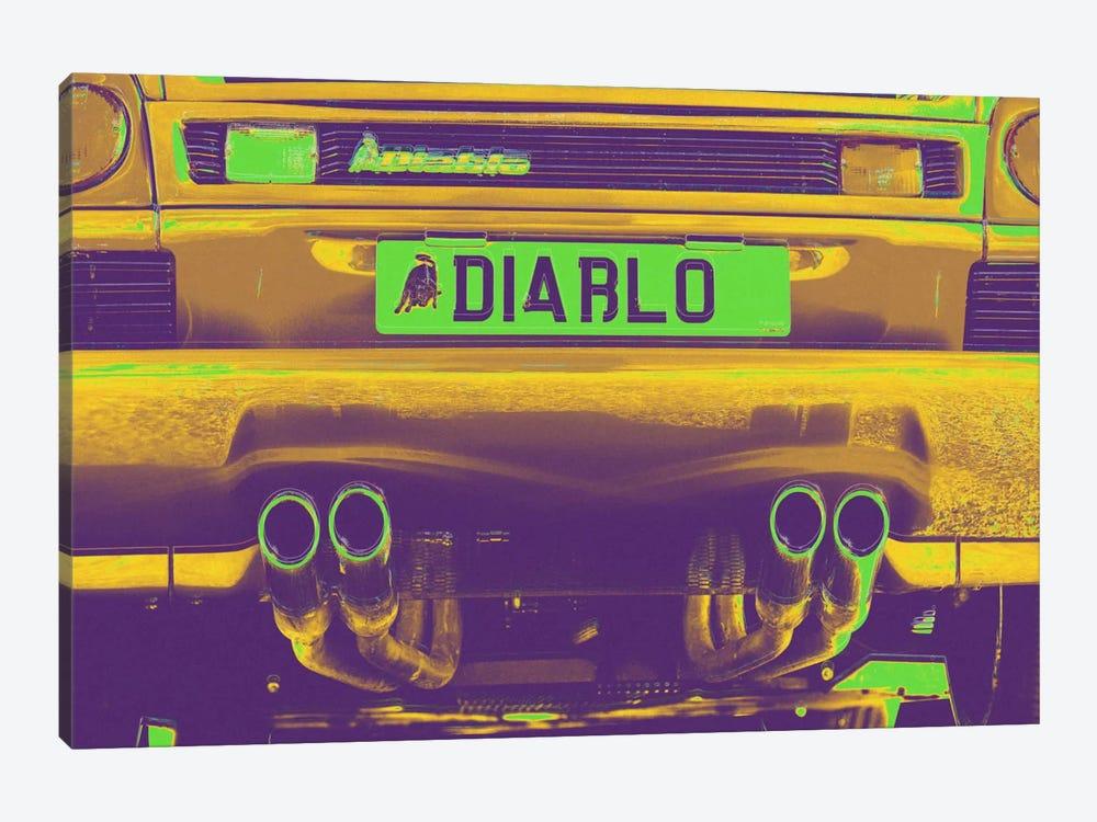 Neon Diablo Bull by 5by5collective 1-piece Canvas Artwork