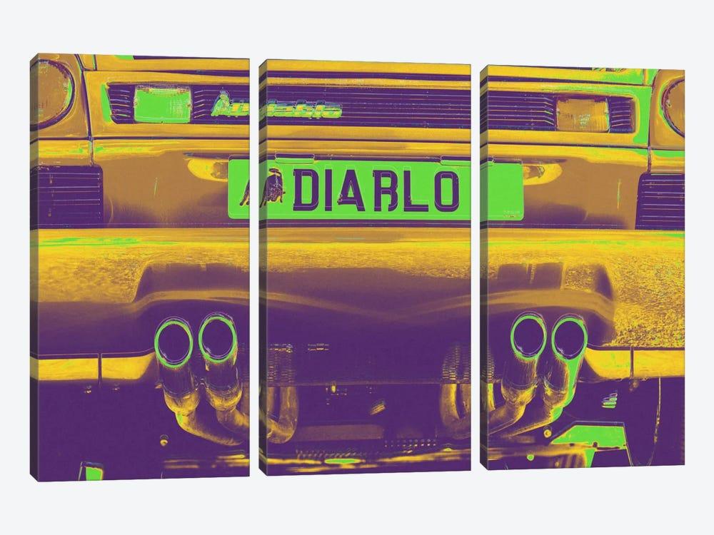 Neon Diablo Bull by 5by5collective 3-piece Canvas Artwork