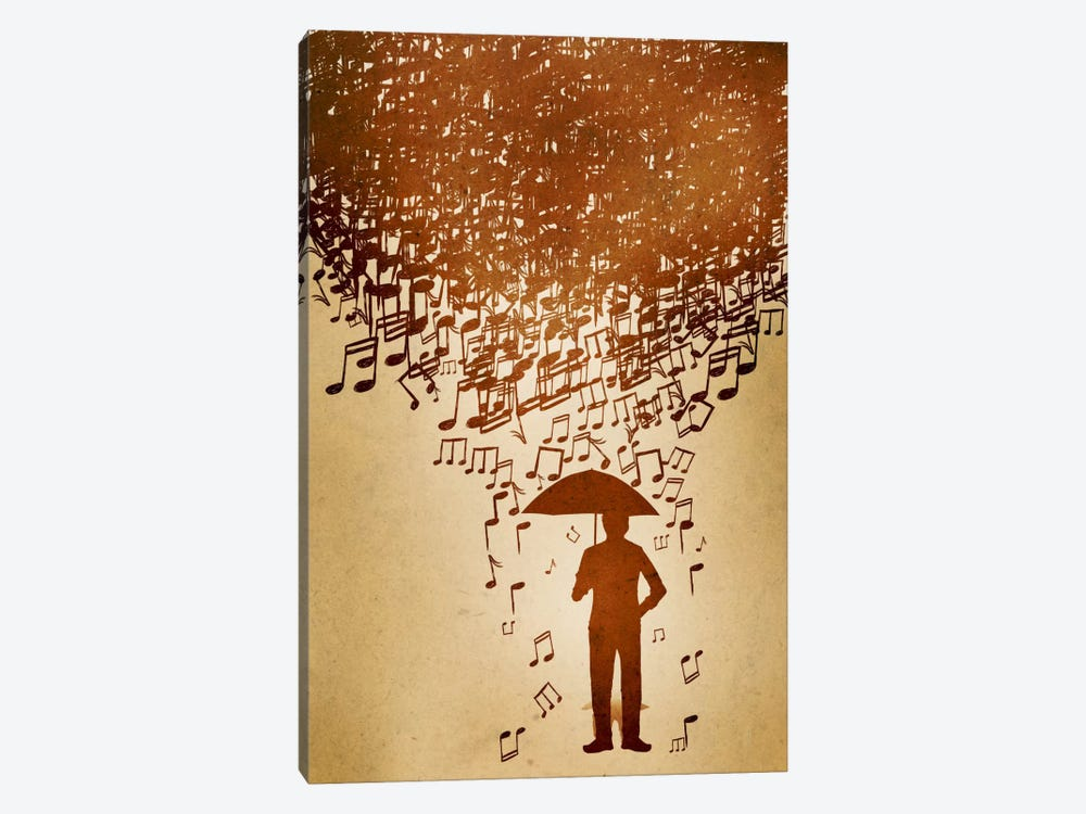 Raining Notes by Unknown Artist 1-piece Art Print