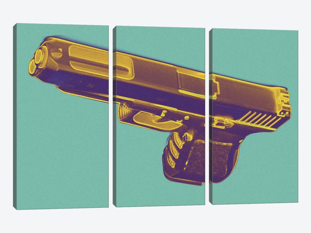 Tropics and Guns by 5by5collective 3-piece Canvas Art Print