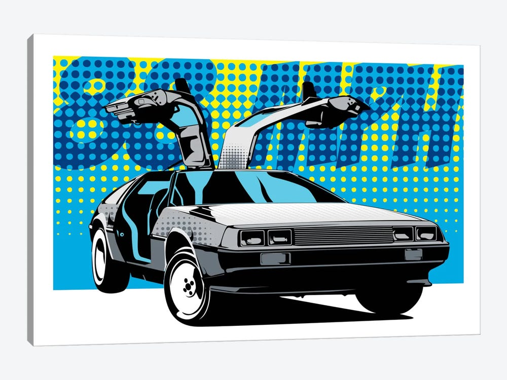 Delorean 88 by Unknown Artist 1-piece Canvas Artwork