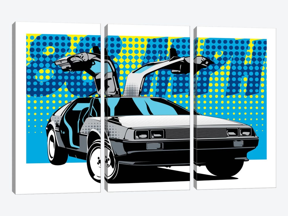 Delorean 88 by Unknown Artist 3-piece Canvas Artwork