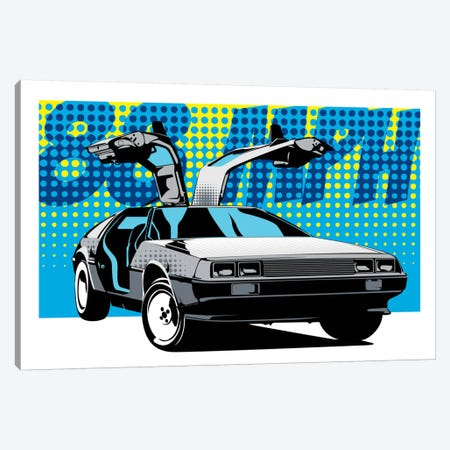 Delorean 88 Canvas Print #ICA7} by Unknown Artist Canvas Artwork