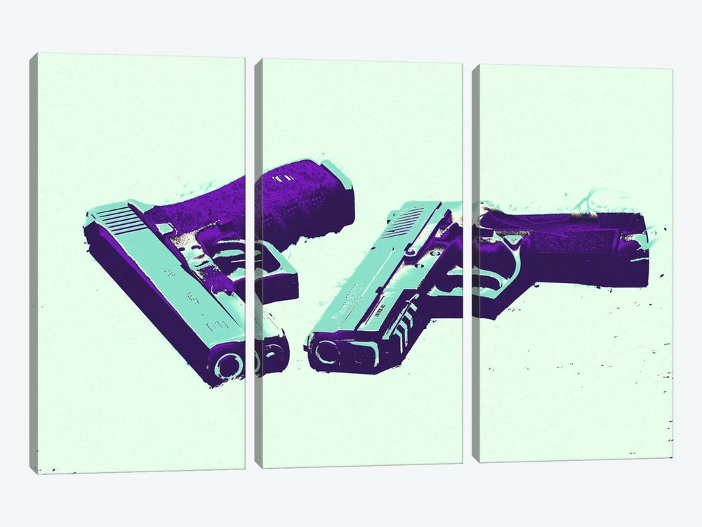 Bang Bang #2 by 5by5collective 3-piece Canvas Art Print