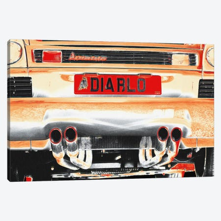 Burning Diablo Bull Canvas Print #ICA815} by 5by5collective Canvas Artwork