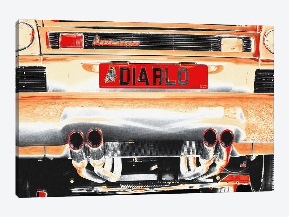 Burning Diablo Bull by 5by5collective 1-piece Canvas Art Print