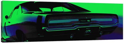 Neon Green Machine Canvas Art Print