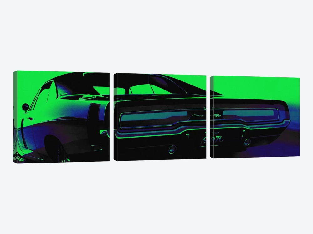 Neon Green Machine by 5by5collective 3-piece Canvas Wall Art